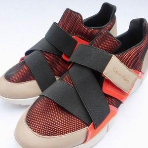 Calvin Klein Willia Walking Shoes Orange Tan Black